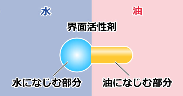 界面活性剤分子のモデル