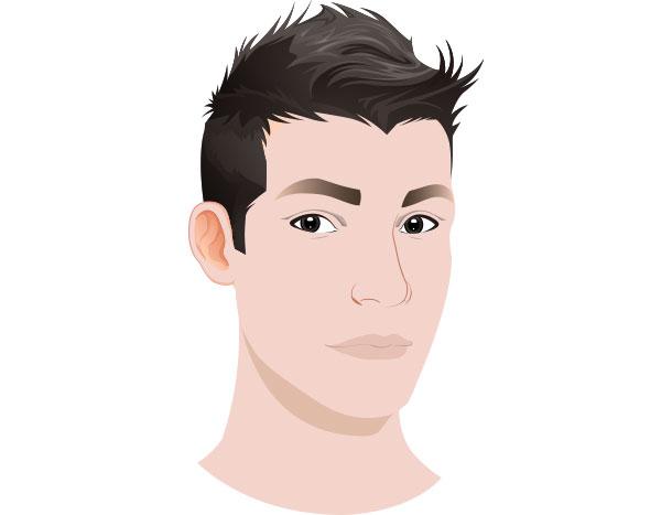 M字ハゲにおすすめの髪型 ソフトモヒカン