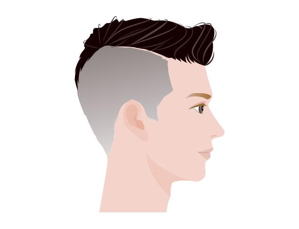 M字ハゲにおすすめの髪型 サイドの刈り上げ