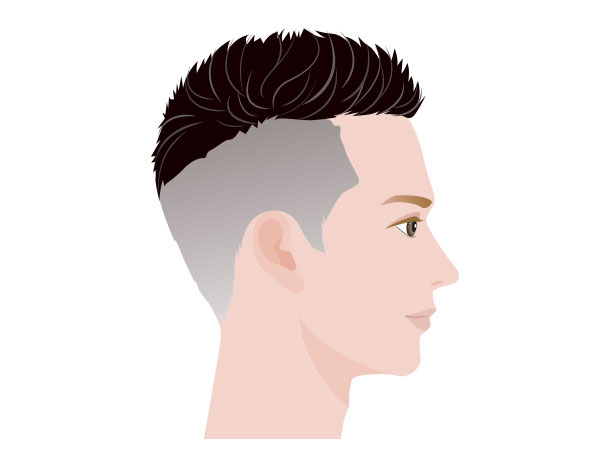 M字ハゲにおすすめの髪型 サイドの刈り上げ2